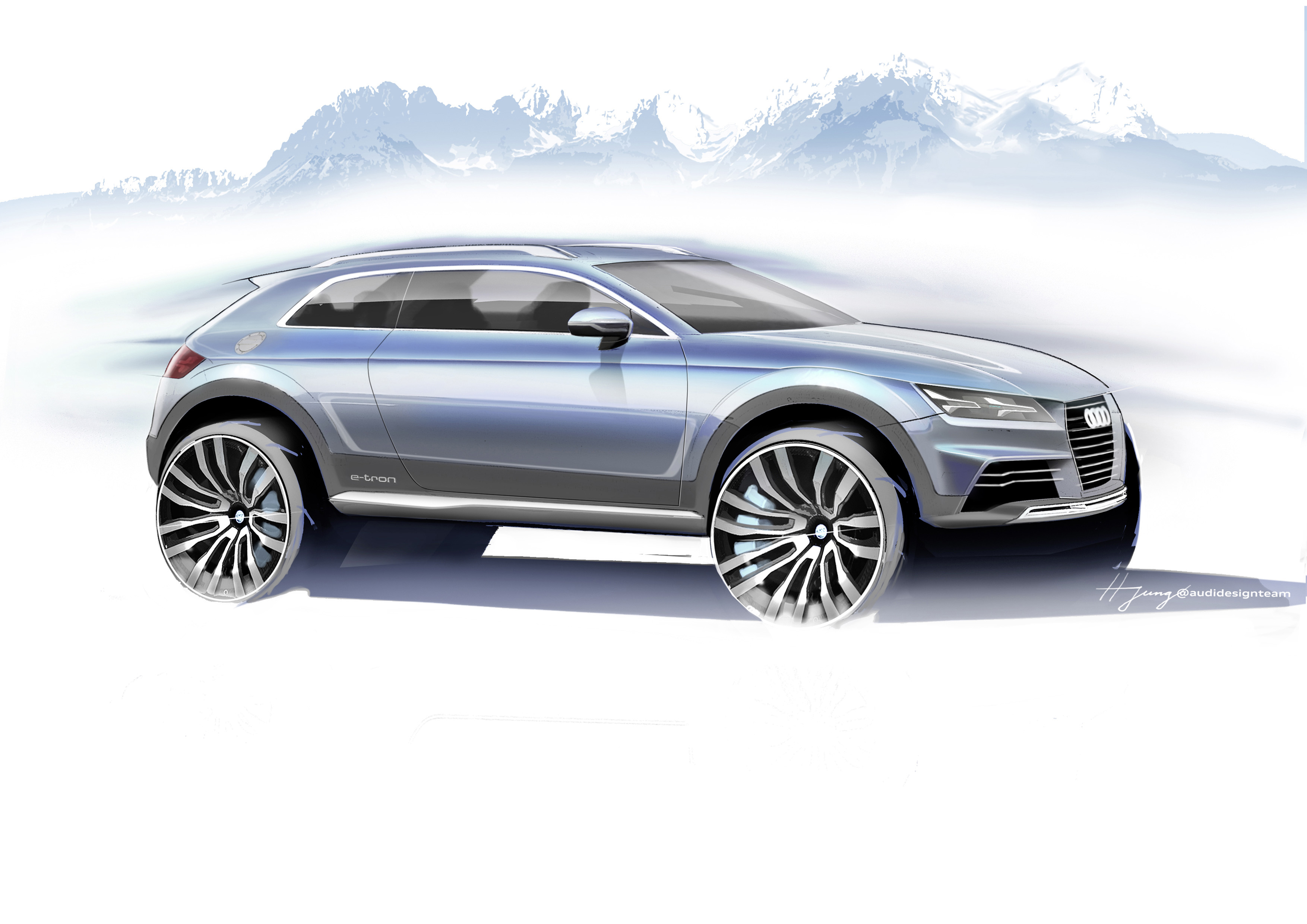 New Audi Crossover Concept Blends Q1 With e-tron, Debuts ...