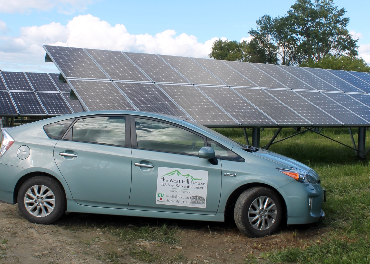 Vermont B Amp B Offers Solar Powered Electric Car Charging