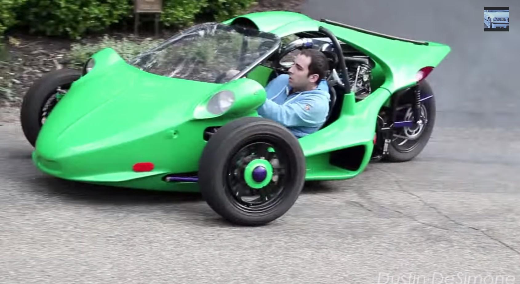 turbo hayabusa t rex three wheeler looks like suicidal fun. Black Bedroom Furniture Sets. Home Design Ideas