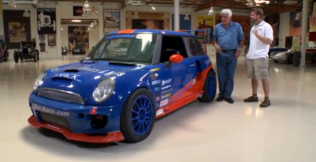 Twin engined mini cooper powerslides into jay leno 39 s garage for Garage mini cooper annemasse