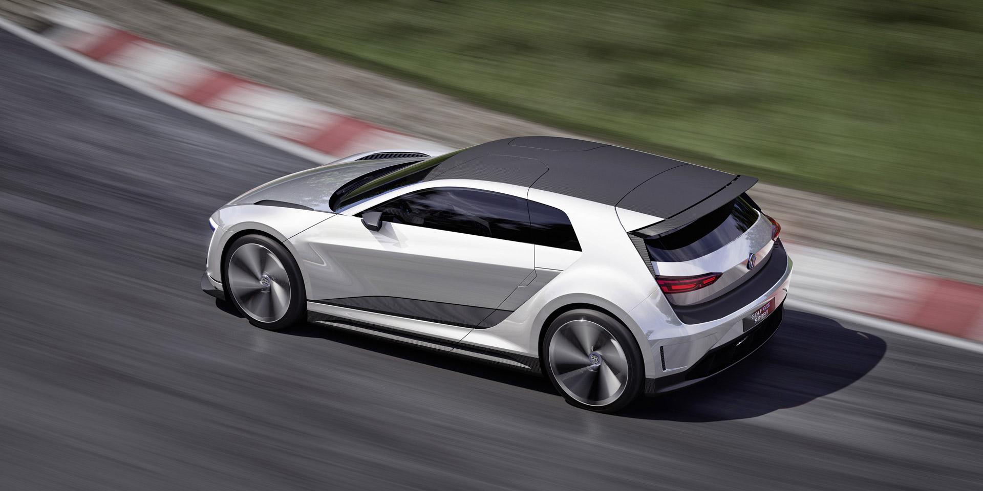 vw golf gte sport concept 174 mph plug in hybrid carbon. Black Bedroom Furniture Sets. Home Design Ideas