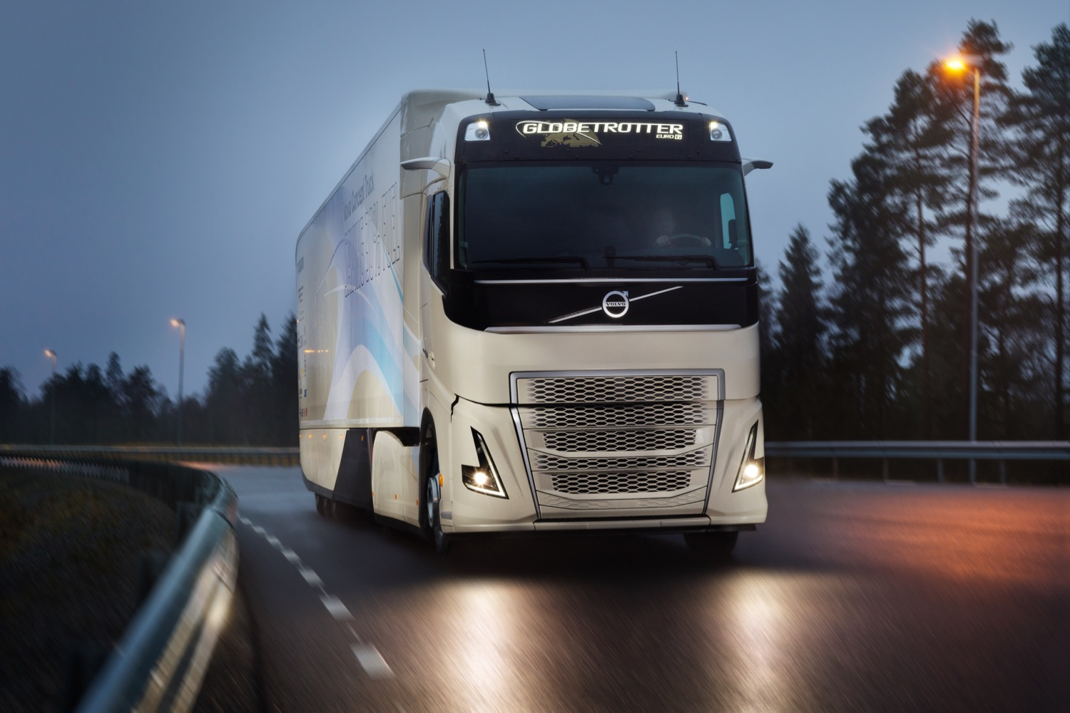 volvo concept truck uses hybrid power to cut fuel use