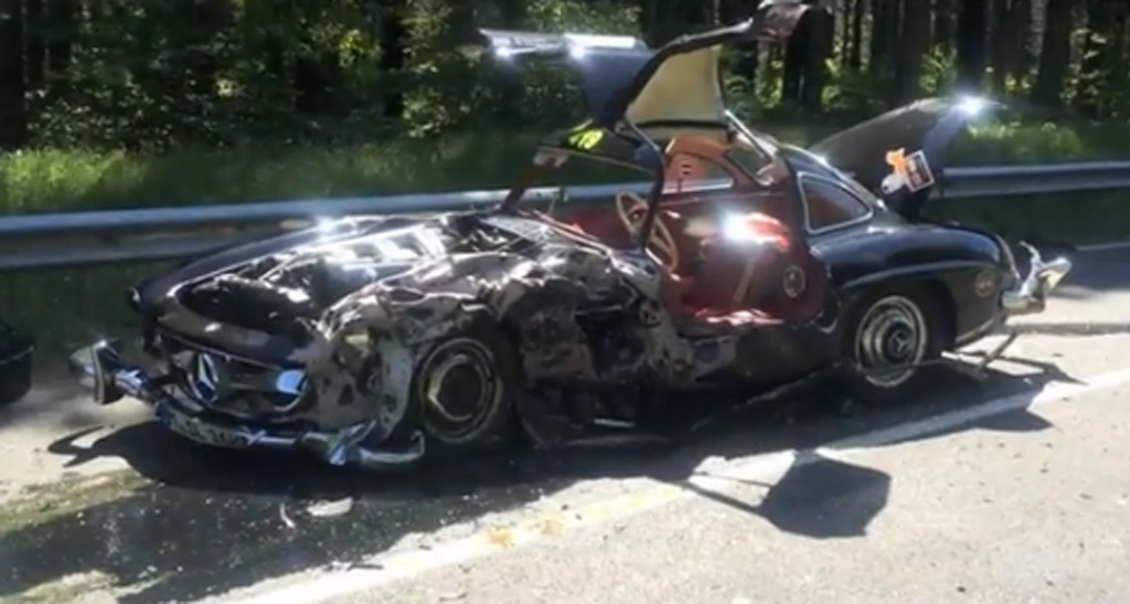Mercedes Benz 300sl Wrecked After Mille Miglia Crash Video