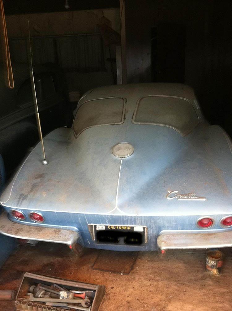 1963 split window corvette barn find 33 years in storage for 1963 split window