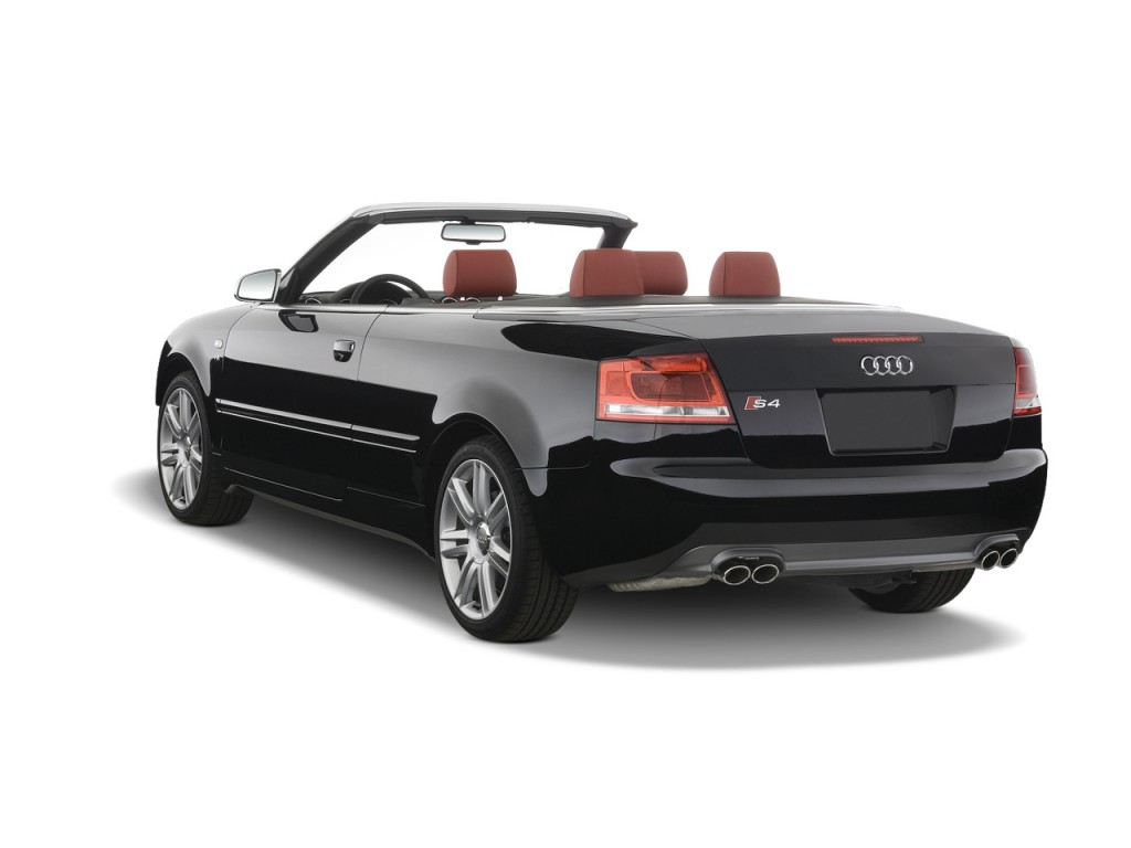 image 2008 audi s4 2 door cabriolet auto angular rear exterior view size 1024 x 768 type. Black Bedroom Furniture Sets. Home Design Ideas