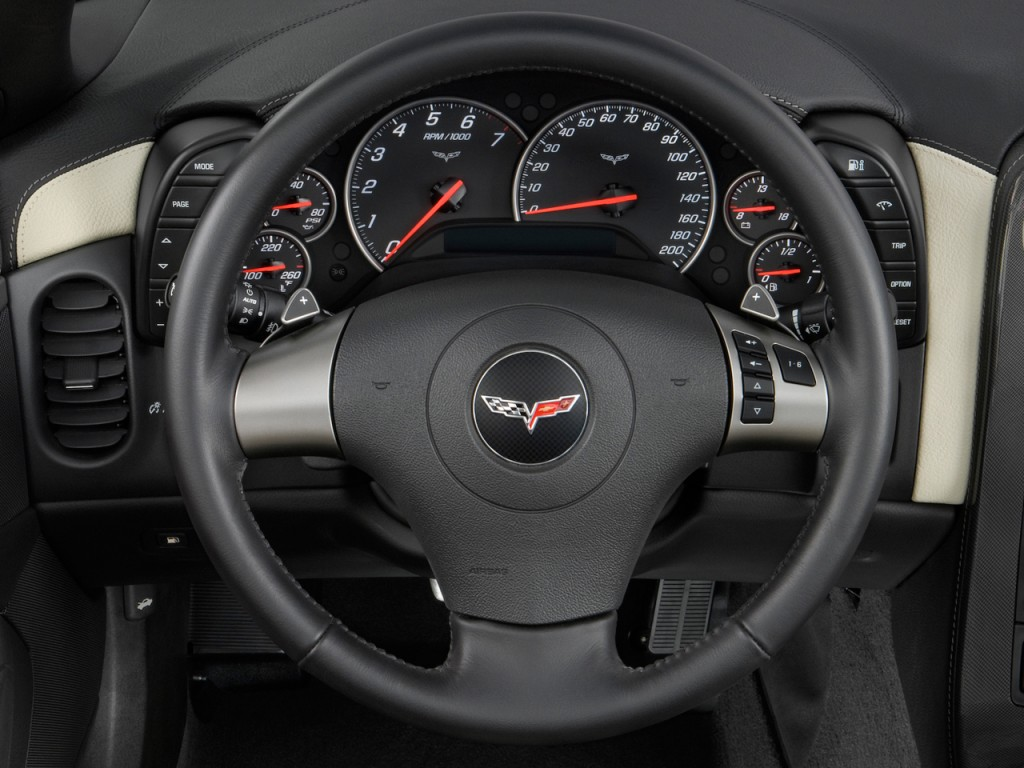 Image: 2008 Chevrolet Corvette 2-door Convertible Steering ...