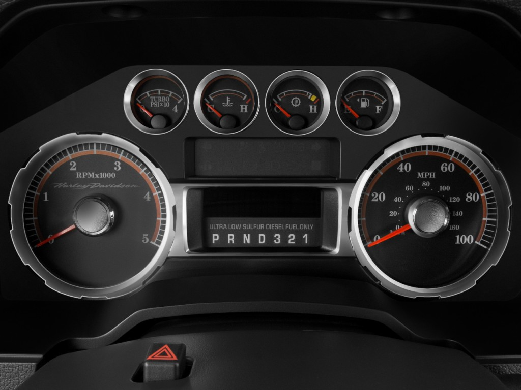 """Used Ford Transit Connect >> Image: 2008 Ford Super Duty F-250 2WD Crew Cab 172"""" Lariat Instrument Cluster, size: 1024 x 768 ..."""