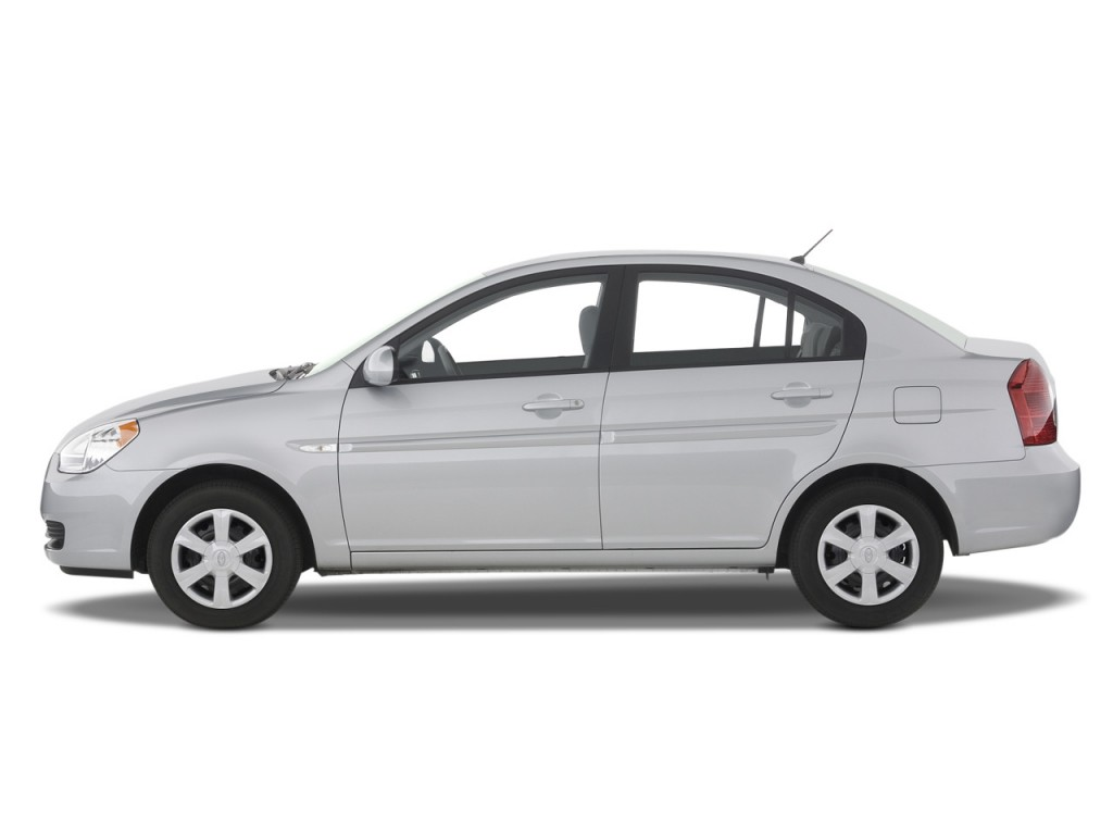 image 2008 hyundai accent 4 door sedan auto gls side exterior view size 1024 x 768 type gif. Black Bedroom Furniture Sets. Home Design Ideas