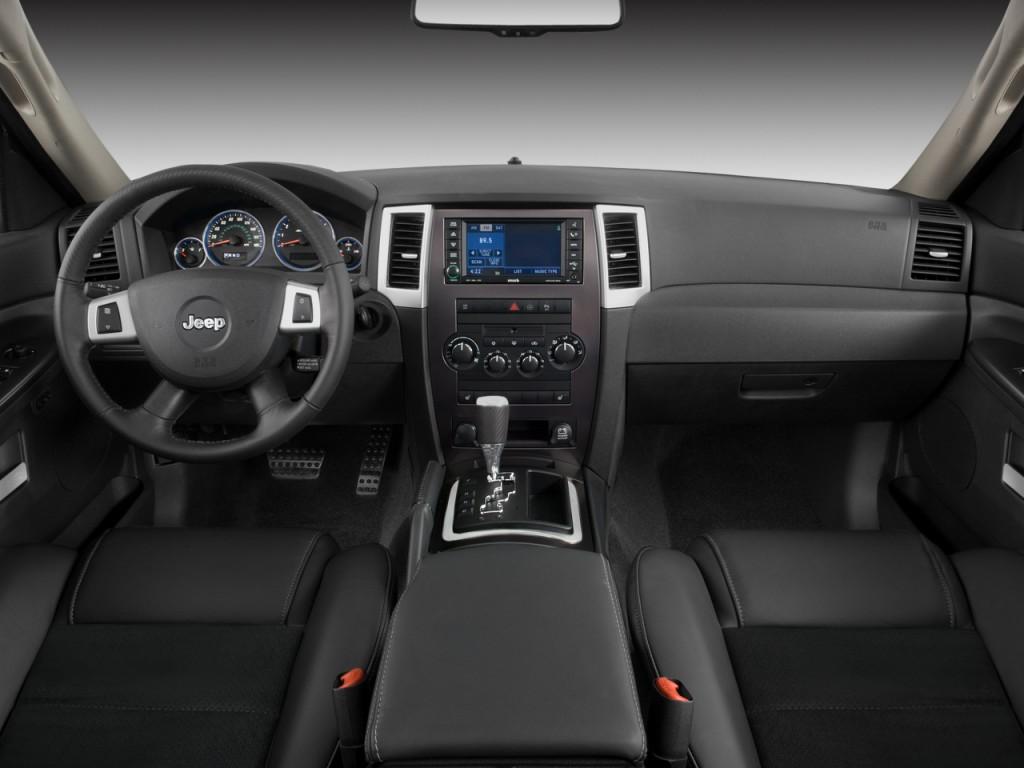 cherokee jeep grand 2008 dashboard srt 4wd door 2009