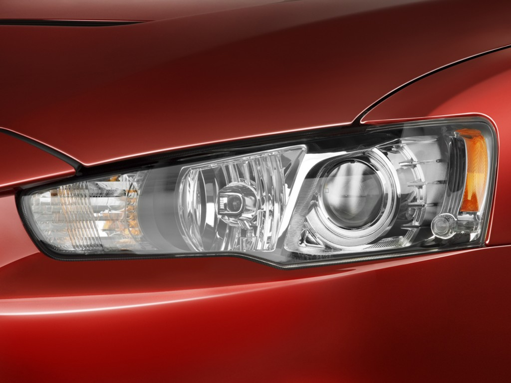 Image: 2008 Mitsubishi Lancer 4-door Sedan Man Evolution GSR Headlight, size: 1024 x 768, type ...
