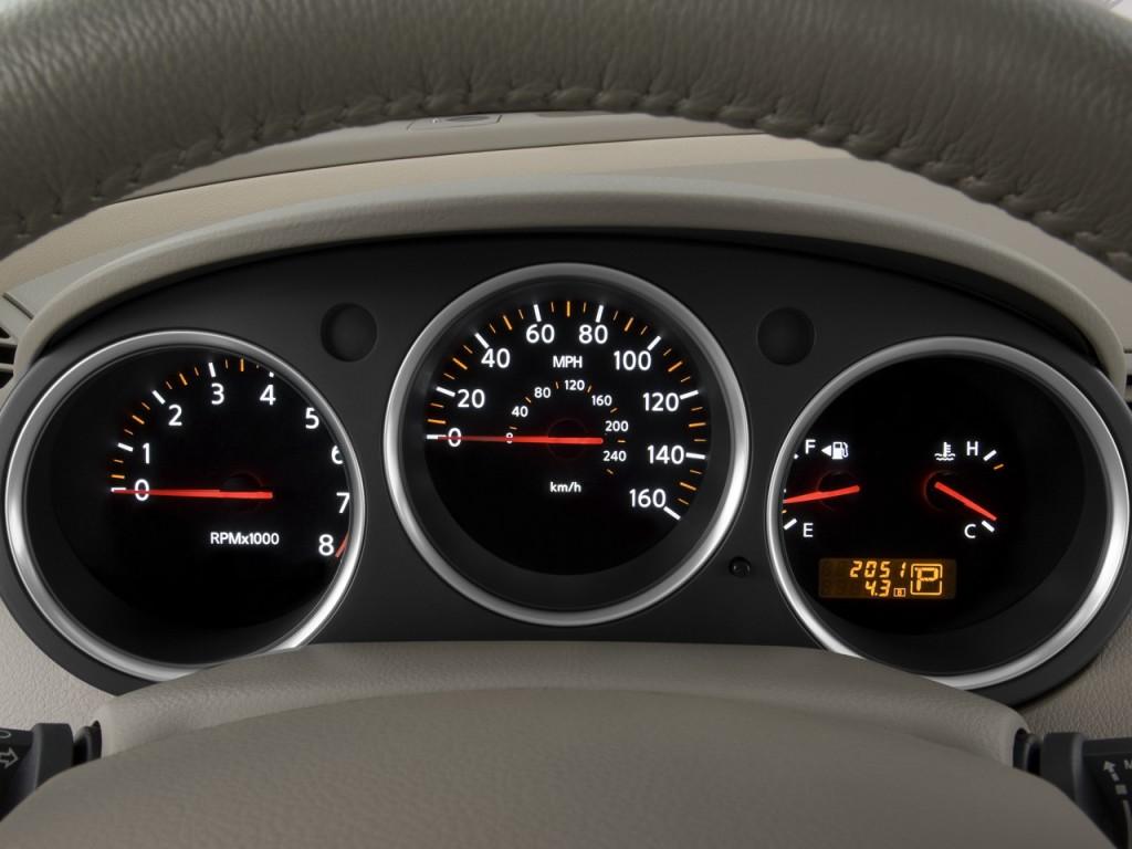 Nissan Rogue Vs Murano >> Image: 2008 Nissan Maxima 4-door Sedan SL Instrument ...