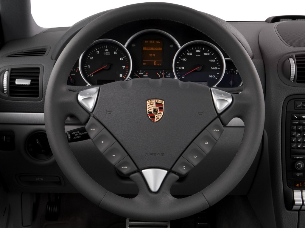 image 2008 porsche cayenne awd 4 door s steering wheel. Black Bedroom Furniture Sets. Home Design Ideas