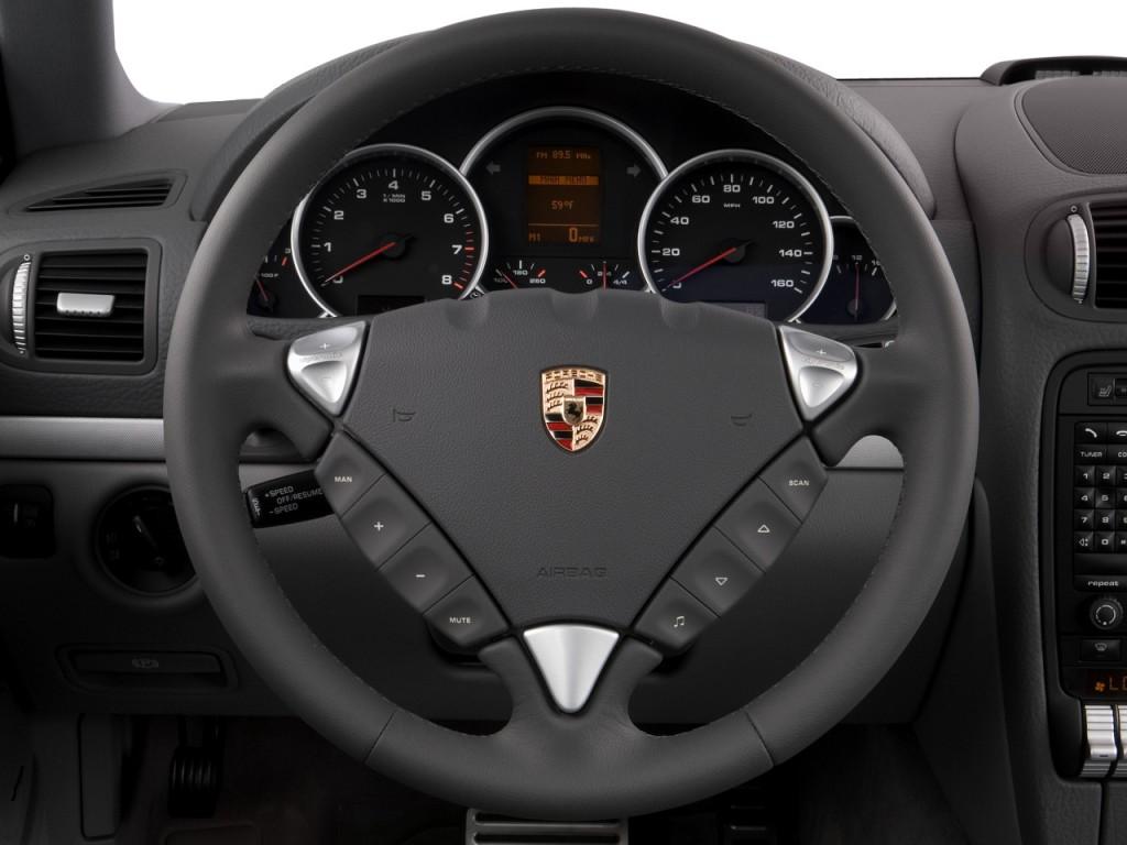 image 2008 porsche cayenne awd 4 door s steering wheel. Black Bedroom Furniture Sets. Home Design Ideas