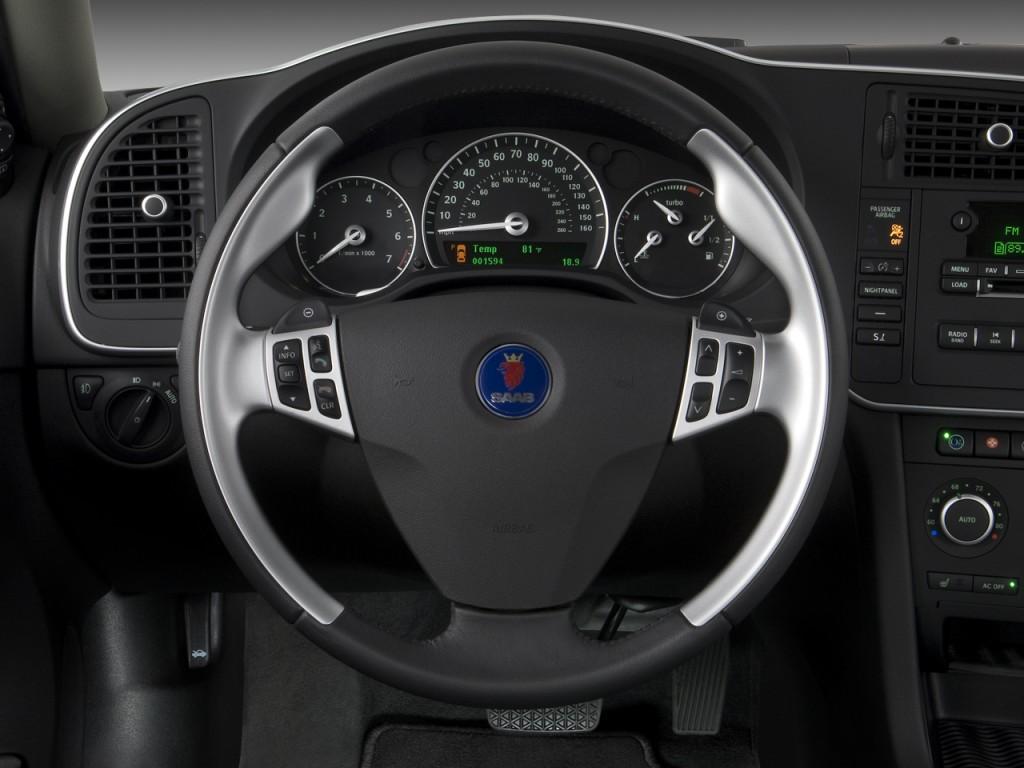 2008 Saab 9 3 Aero >> Image: 2008 Saab 9-3 4-door Sedan Aero Steering Wheel ...