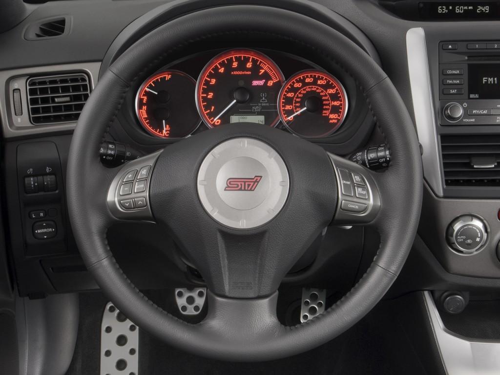 image 2008 subaru impreza 5dr man sti steering wheel. Black Bedroom Furniture Sets. Home Design Ideas