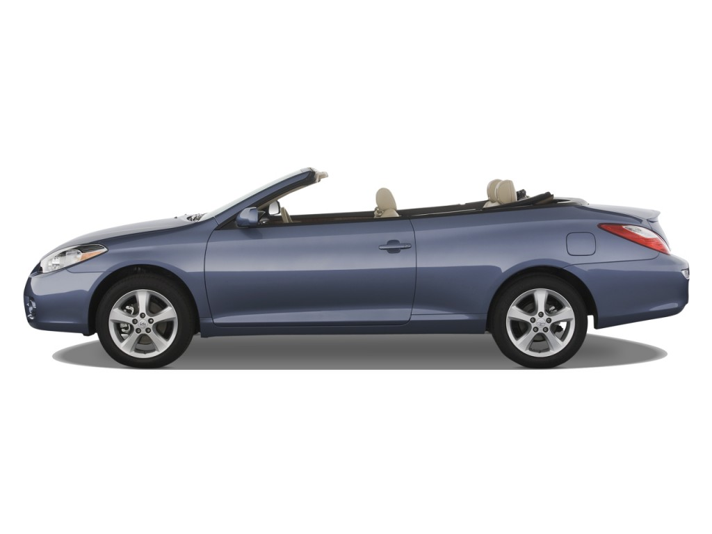 image 2008 toyota camry solara 2 door convertible v6 auto sle natl side exterior view size. Black Bedroom Furniture Sets. Home Design Ideas
