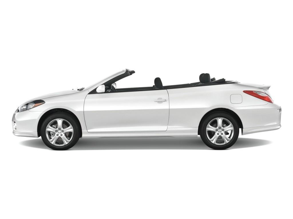 image 2008 toyota camry solara 2 door convertible v6 auto sport natl side exterior view size. Black Bedroom Furniture Sets. Home Design Ideas