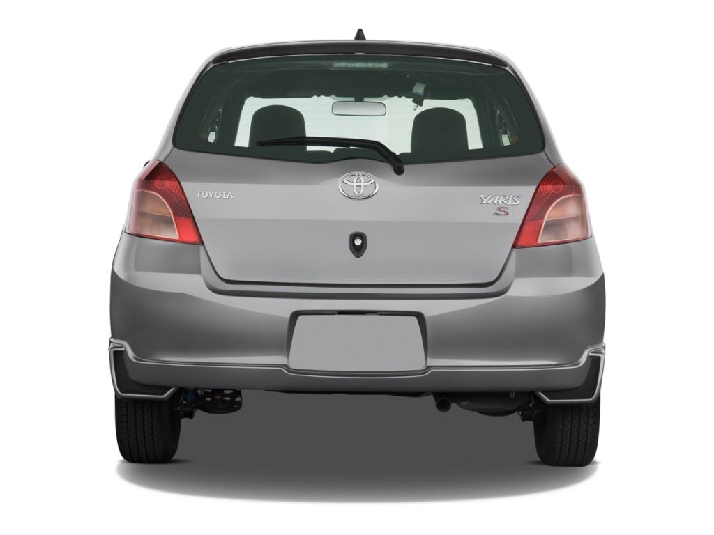 Image: 2008 Toyota Yaris 3dr HB Auto S (Natl) Rear ...