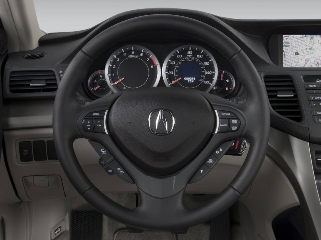 image 2009 acura tsx 4 door sedan man tech pkg steering. Black Bedroom Furniture Sets. Home Design Ideas