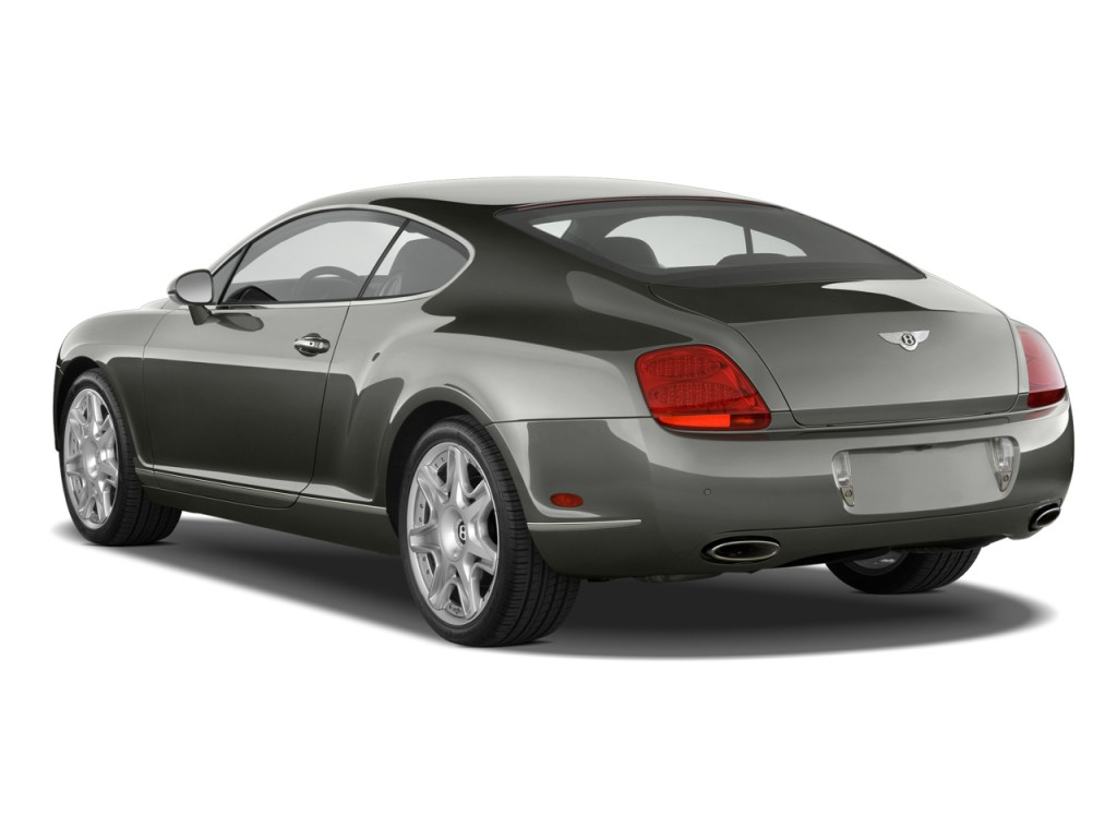 2009 Bentley Continental GT 2-door Coupe Angular Rear Exterior View