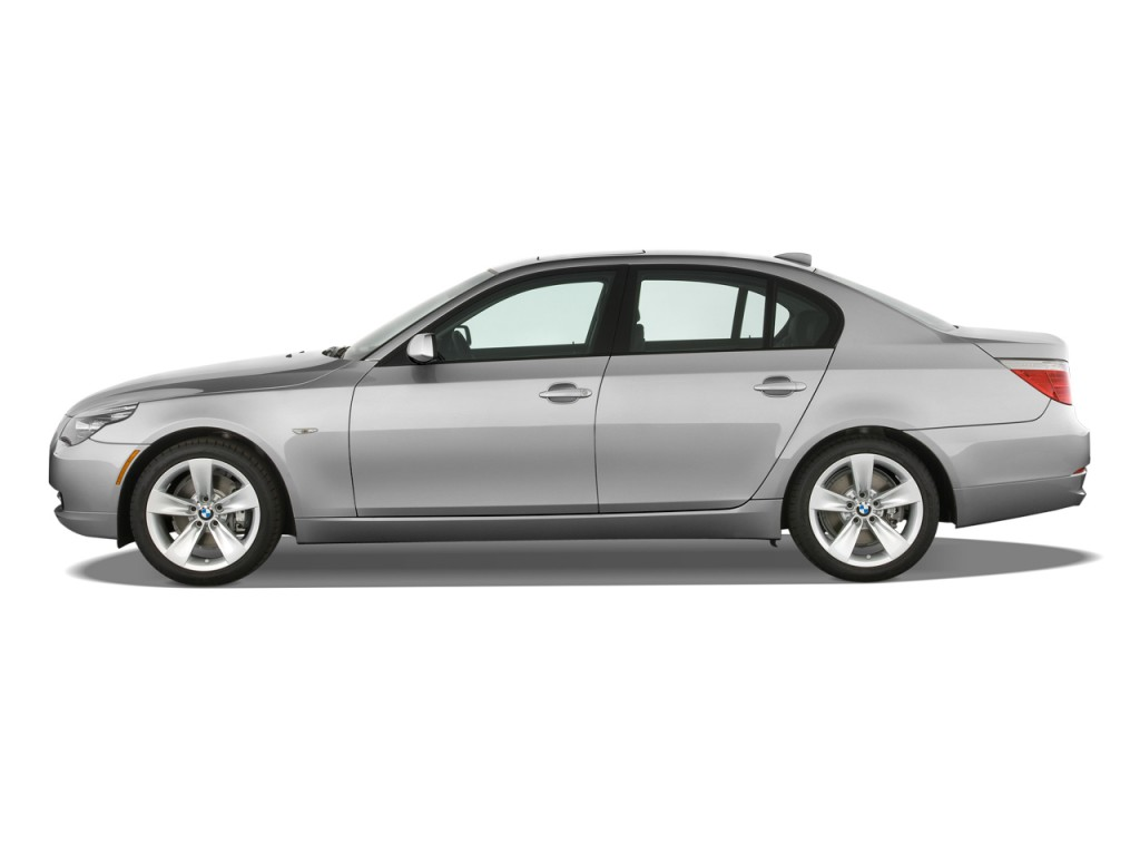 image 2009 bmw 5 series 4 door sedan 528i rwd side. Black Bedroom Furniture Sets. Home Design Ideas