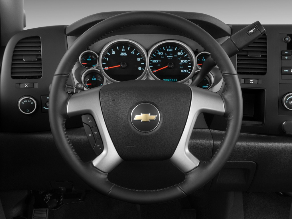 """2010 Chevrolet Silverado 1500 Crew Cab >> Image: 2009 Chevrolet Silverado 1500 2WD Crew Cab 143.5"""" LT Steering Wheel, size: 1024 x 768 ..."""