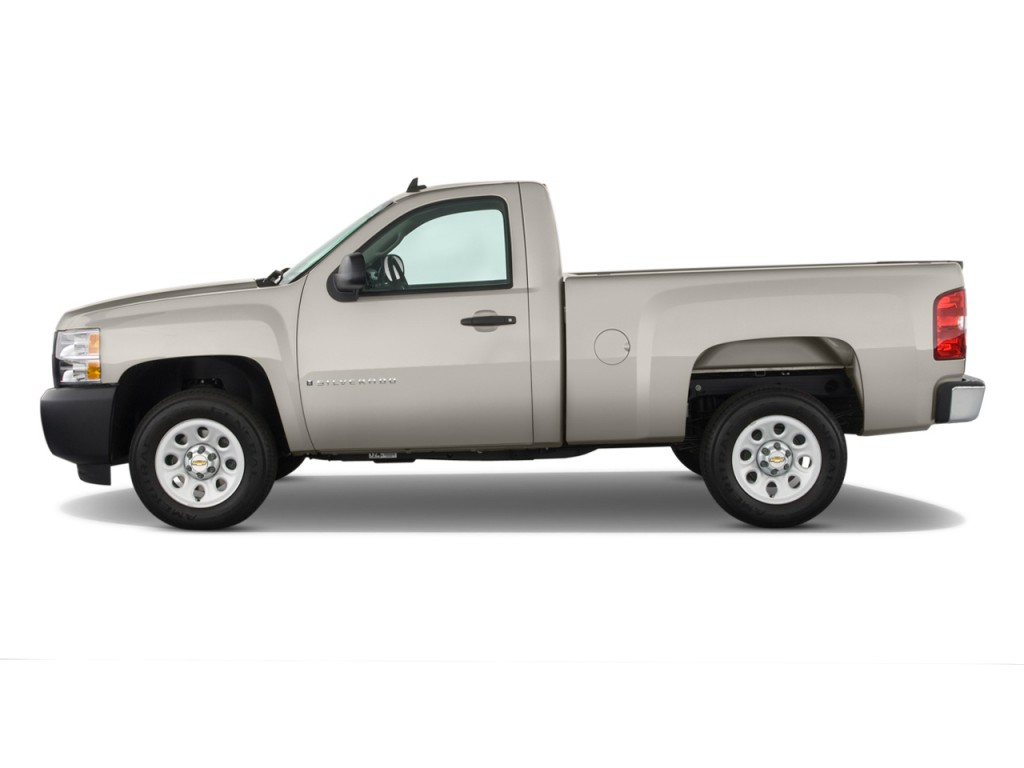 image 2009 chevrolet silverado 1500 2wd reg cab 119 0 work truck side exterior view size. Black Bedroom Furniture Sets. Home Design Ideas