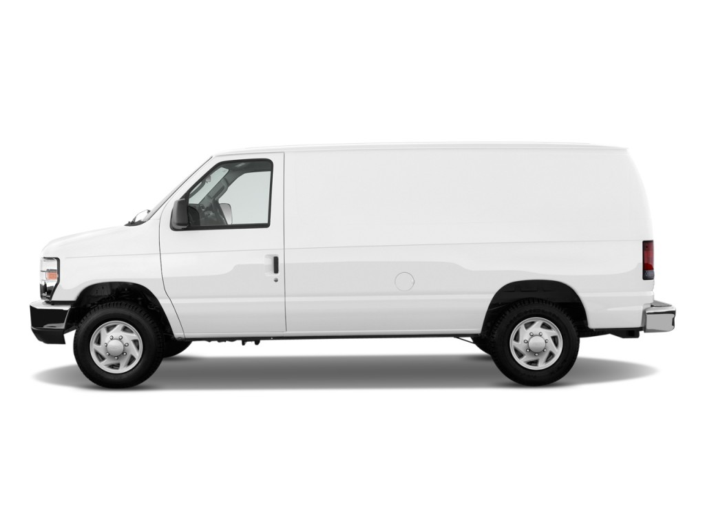 Used Ford Transit Connect >> Image: 2009 Ford Econoline Cargo Van E-150 Commercial Side Exterior View, size: 1024 x 768, type ...