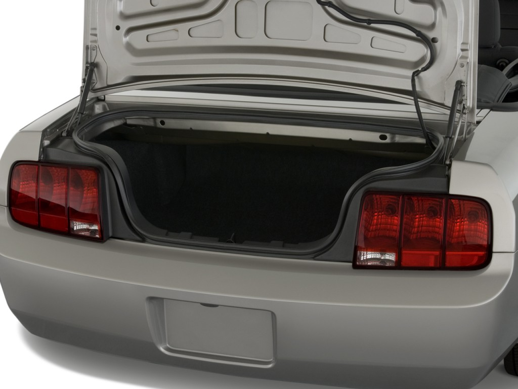 Image 2009 Ford Mustang 2 Door Convertible Trunk Size