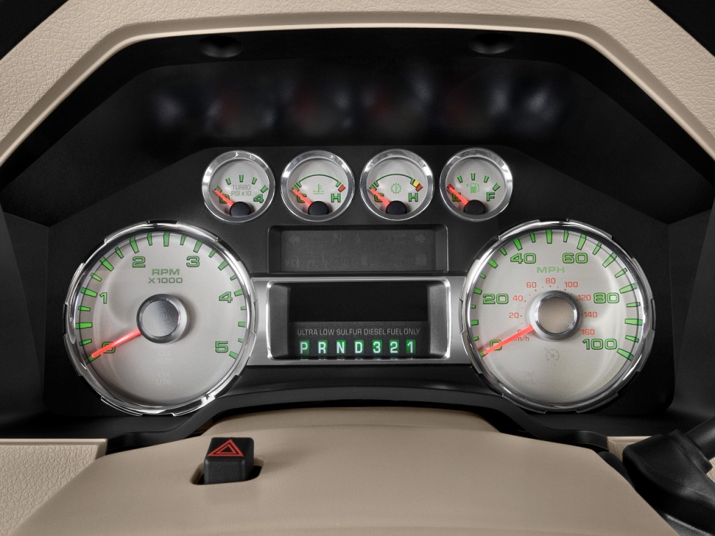 Image: 2009 Ford Super Duty F-350 DRW Instrument Cluster ...