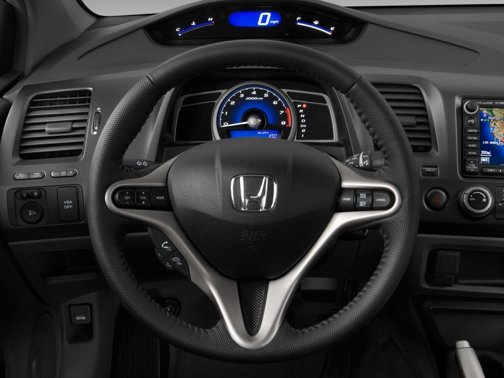 Image 2009 Honda Civic Coupe 2 Door Auto Ex L W Navi Steering Wheel Size 1024 X 768 Type