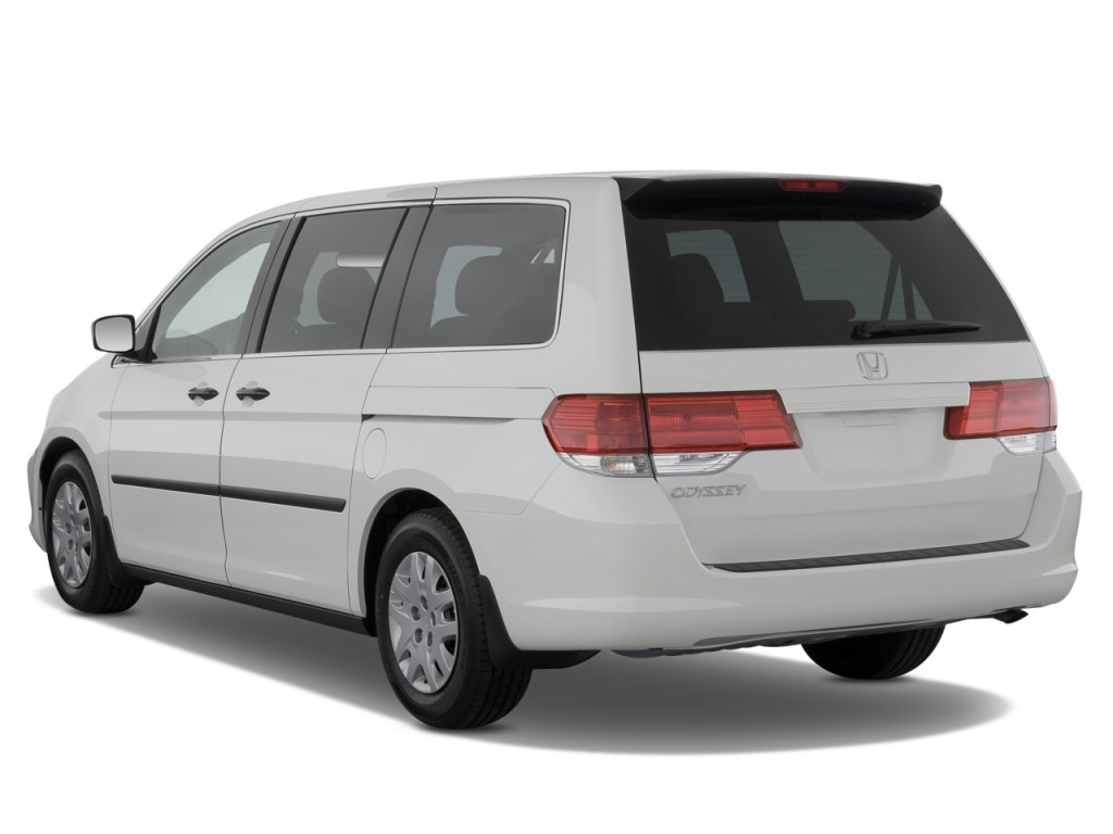Image 2009 honda odyssey 4 door wagon lx angular rear exterior view size 1024 x 768 type