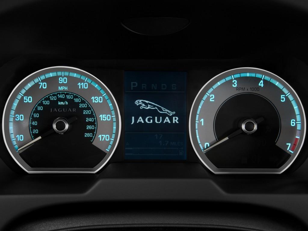 image 2009 jaguar xf 4 door sedan supercharged instrument. Black Bedroom Furniture Sets. Home Design Ideas