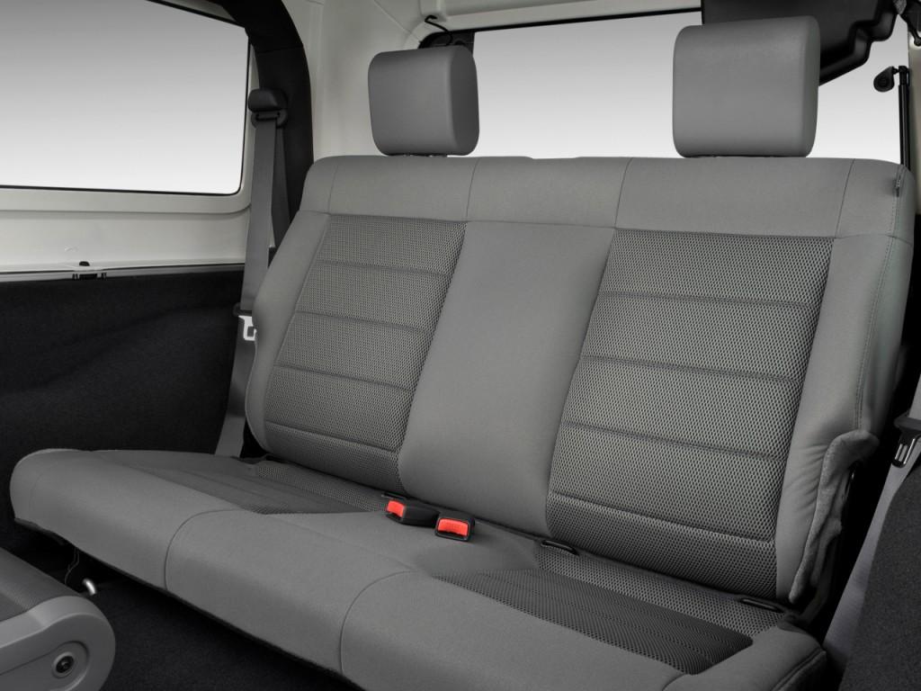 Image 2009 Jeep Wrangler 4wd 2 Door Sahara Rear Seats