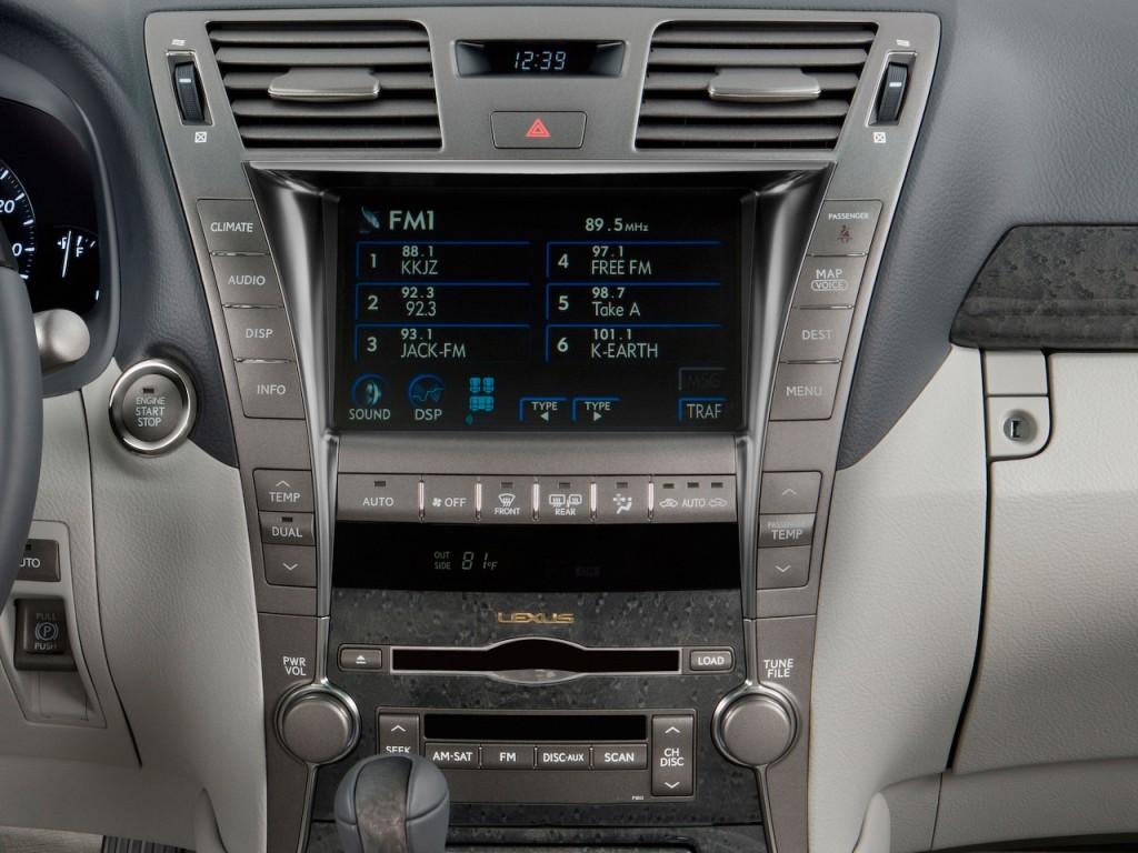 image 2009 lexus ls 460 4 door sedan rwd instrument panel. Black Bedroom Furniture Sets. Home Design Ideas