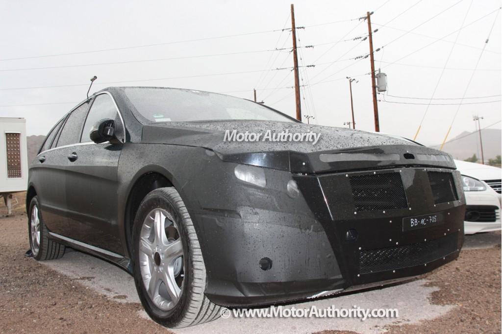 2009 mercedes r class facelift spy shots 001