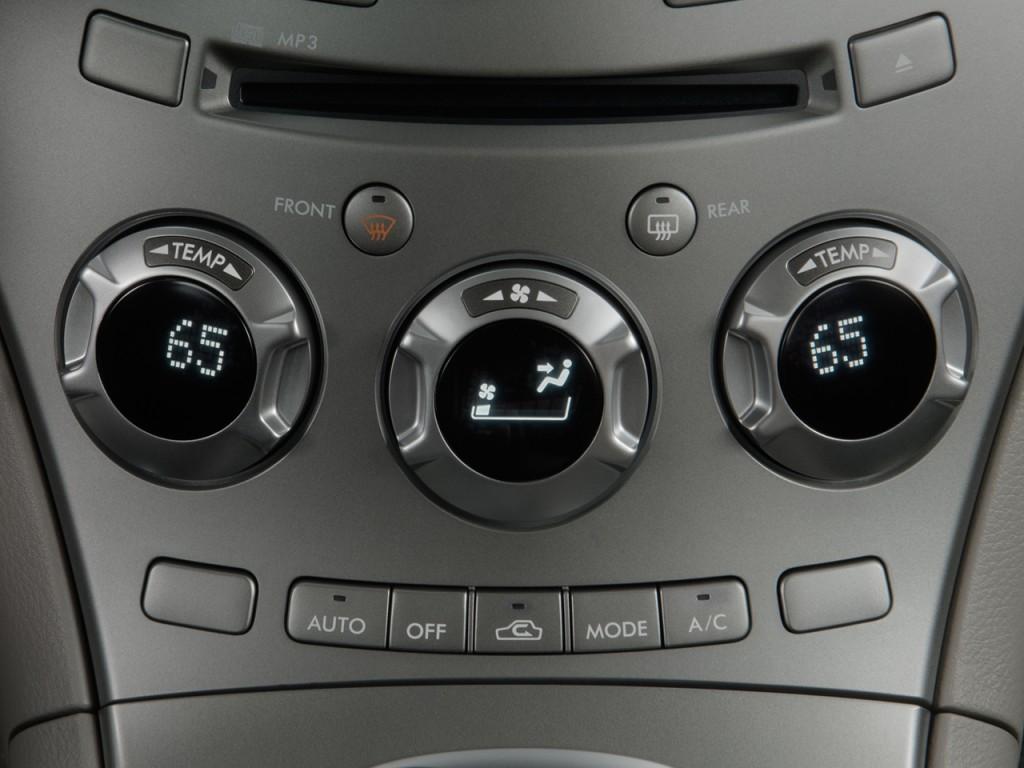 Temperature Controls 2009 Subaru Tribeca 4 door 5 Pass #59504A