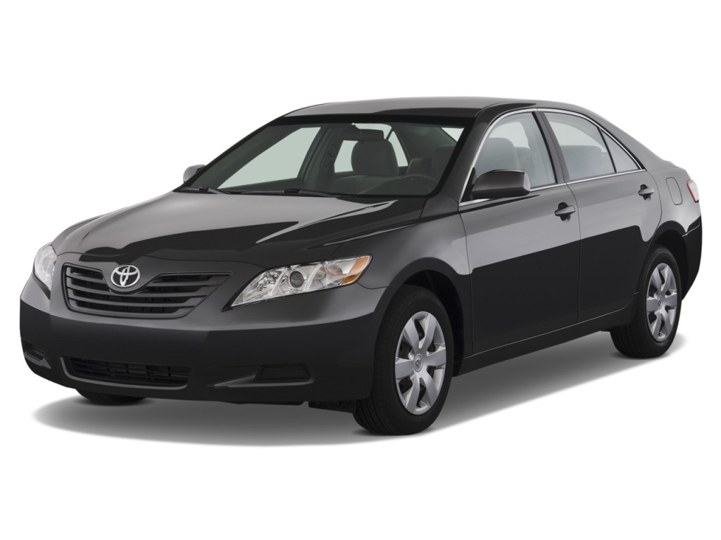 image 2009 toyota camry 4 door sedan v6 auto le natl angular front exterior view size 1024. Black Bedroom Furniture Sets. Home Design Ideas