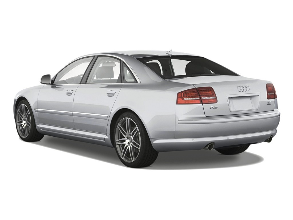 2010 Audi A8 4-door Sedan Angular Rear Exterior View