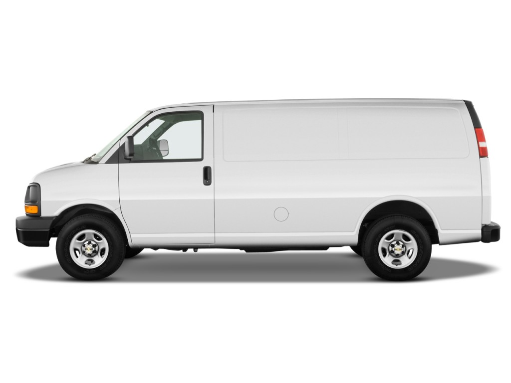 "2010 Chevrolet Express Cargo Van RWD 1500 135"" Side Exterior View"