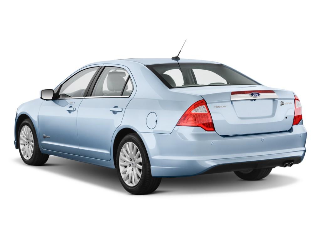 2010 Ford Fusion Hybrid 4-door Sedan Hybrid FWD Angular Rear Exterior View