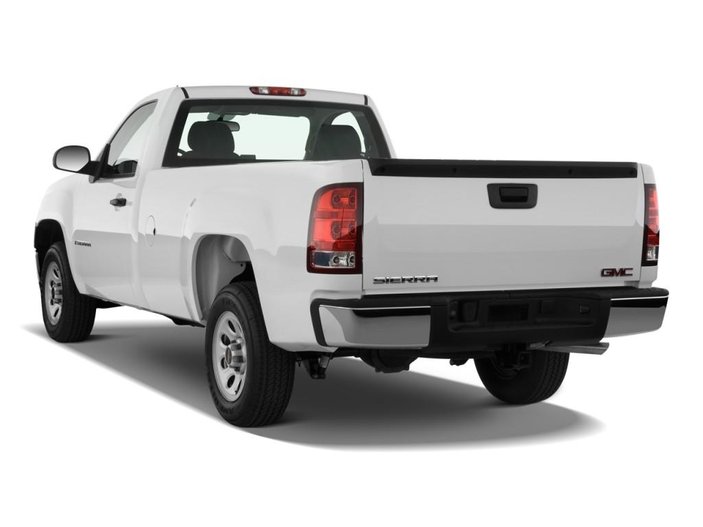 image 2010 gmc sierra 1500 2wd reg cab 133 0 work truck angular rear exterior view size 1024. Black Bedroom Furniture Sets. Home Design Ideas