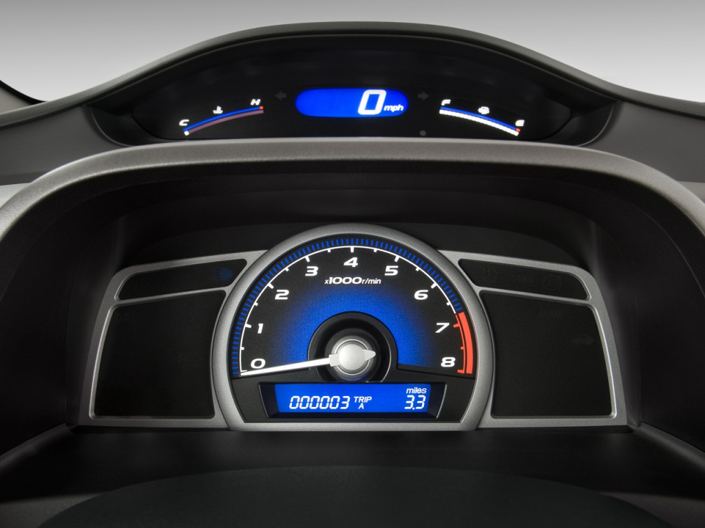 Used Honda Hrv >> Image: 2010 Honda Civic Coupe 2-door Man EX Instrument Cluster, size: 1024 x 768, type: gif ...