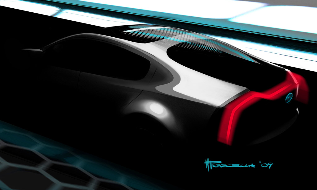 2010 Kia Ray Concept Teaser, to be introduced at 2010 Chicago Auto Show
