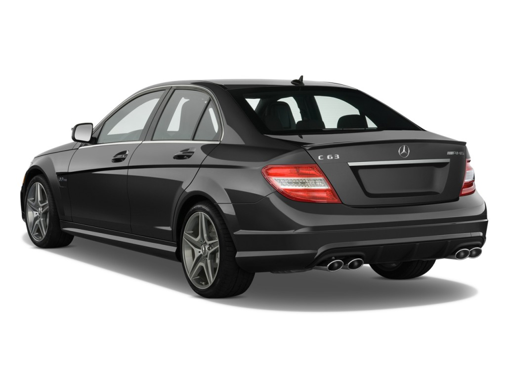 image 2010 mercedes benz c63 amg 4 door sedan 6 3l amg rwd angular rear exterior view size. Black Bedroom Furniture Sets. Home Design Ideas