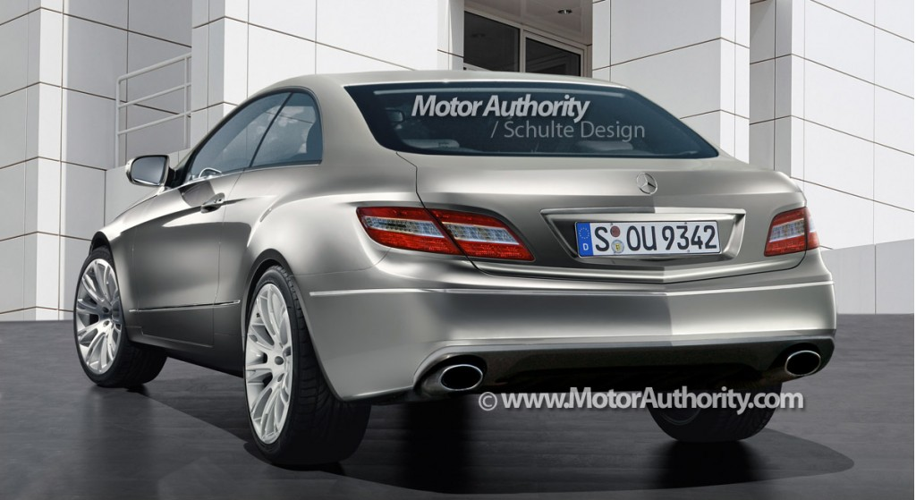 2010 mercedes benz e class coupe rendering motorauthority 002 2
