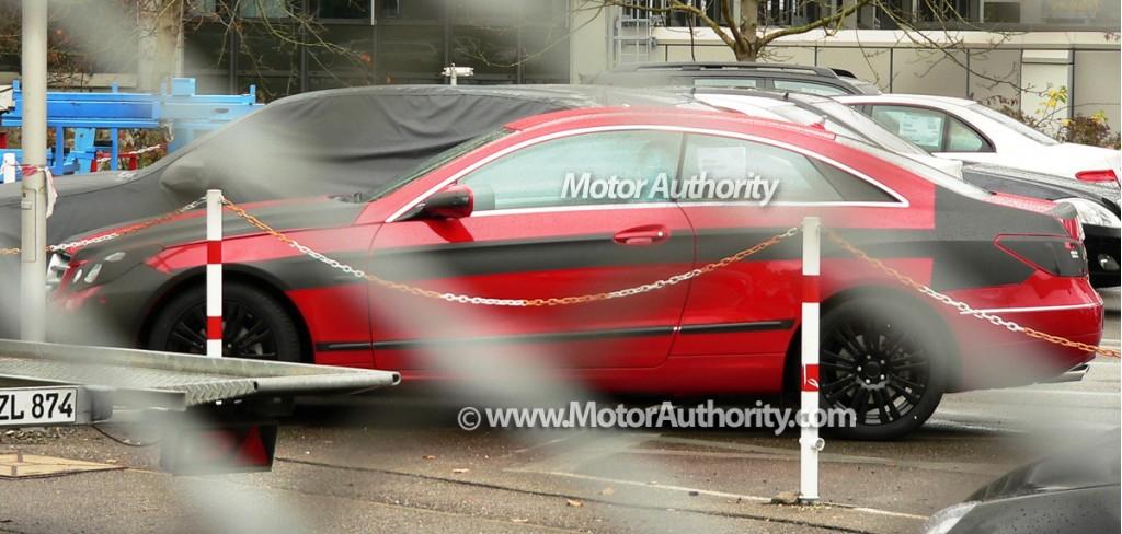 2010 mercedes benz e class coupe spy shots october 003