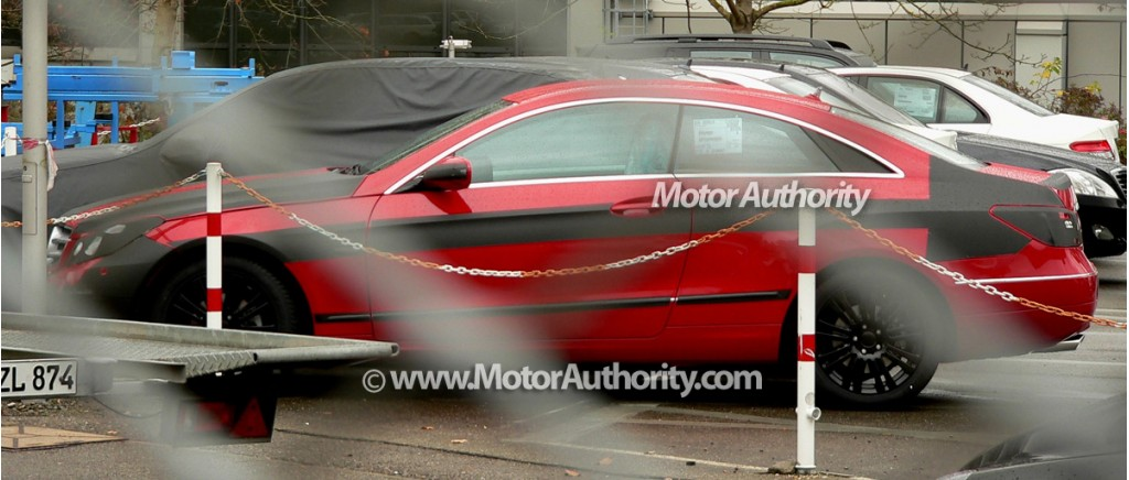 2010 mercedes benz e class coupe spy shots october 005