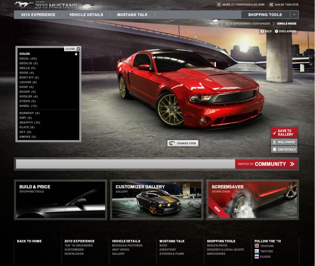 Image: 2010 Mustang Customizer, Size: 1024 X 867, Type