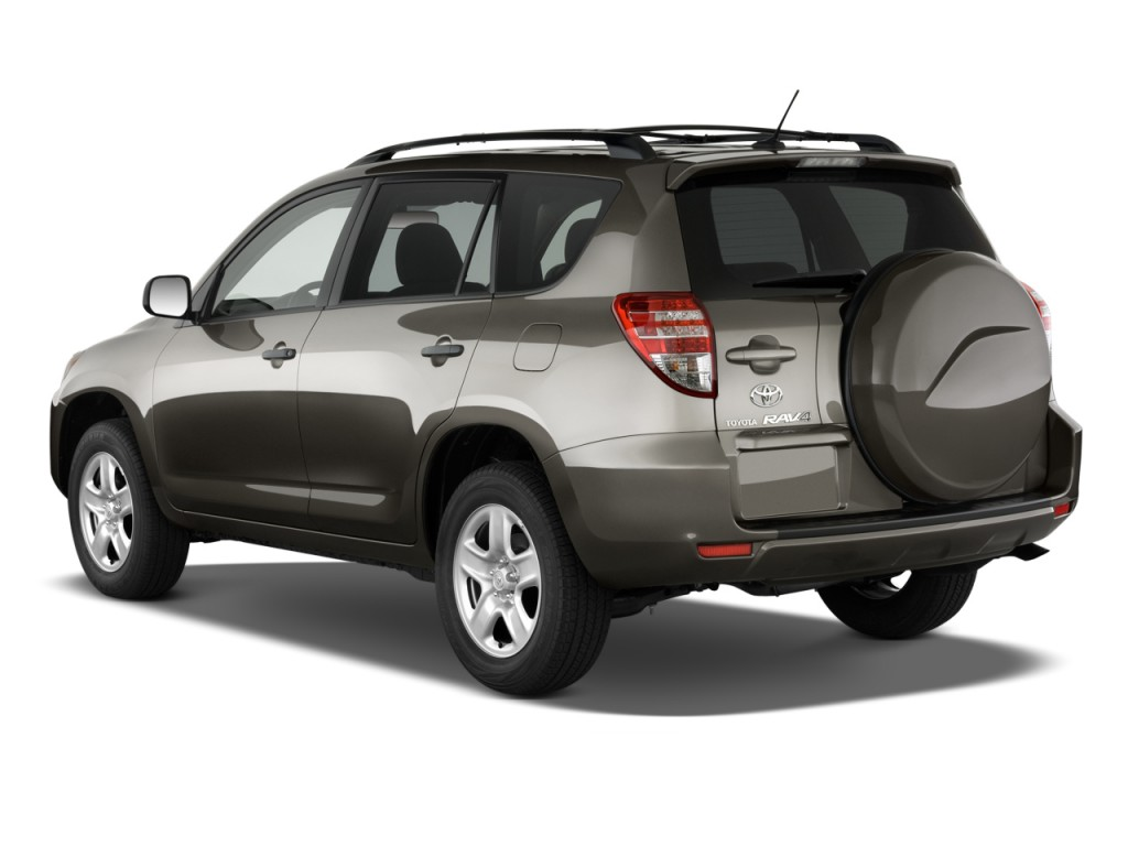 2010 Toyota RAV4 FWD 4-door 4-cyl 4-Spd AT (Natl) Angular Rear Exterior View